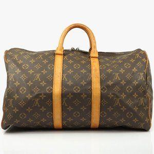 Auth Louis Vuitton Keepall 45 Travel Bag #1055L19